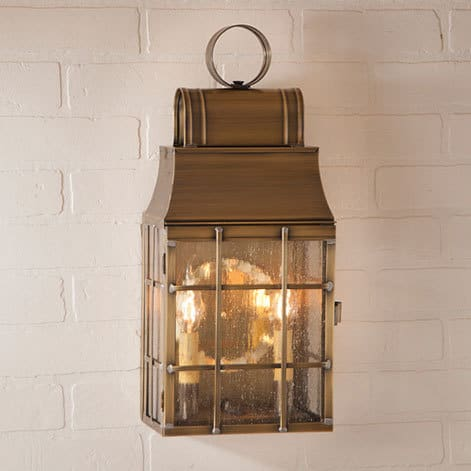 Washington Wall Lantern in Weathered Brass Image