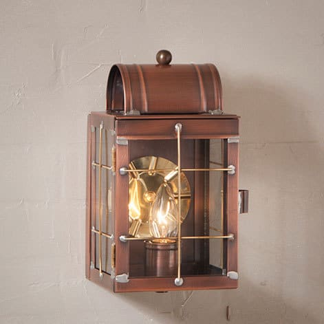 Small Wall Lantern in Antique Copper Image
