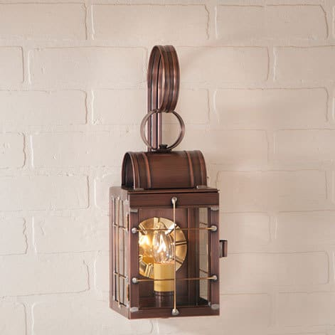 Single Wall Lantern in Antique Copper Image