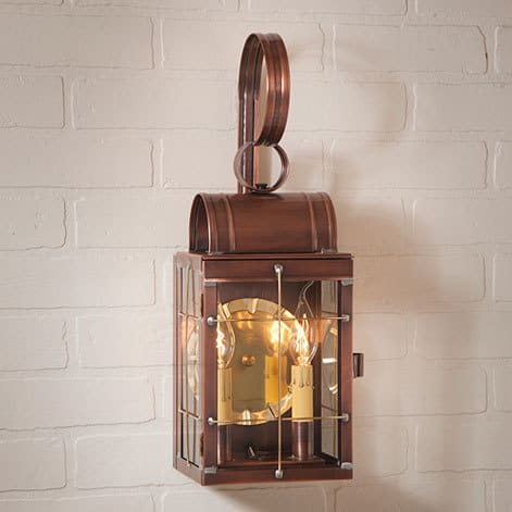 Double Wall Lantern in Antique Copper Image