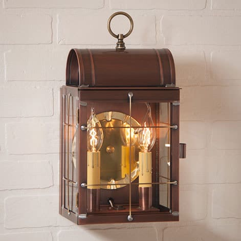 Toll House Wall Lantern in Antique Copper Image