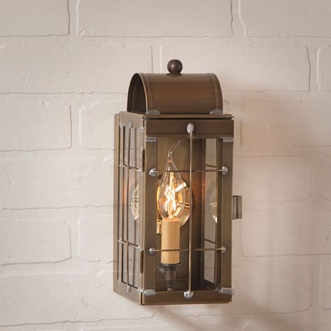 Cape Cod Wall Lantern in Weathered Brass Image