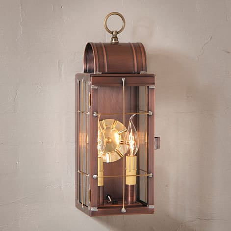 Queen Arch Wall Lantern in Antique Copper Image
