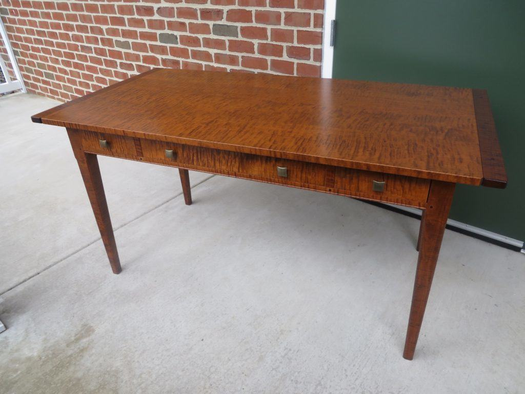 tiger maple wood desk