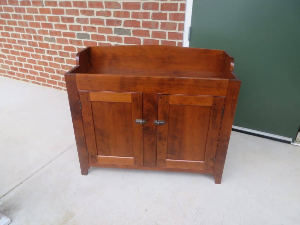 cherry wood dry sink