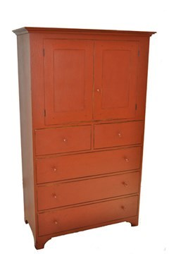 Historical Shaker Clothes Cabinet Image