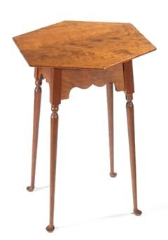 Hexagon Table with Queen Anne Legs Image