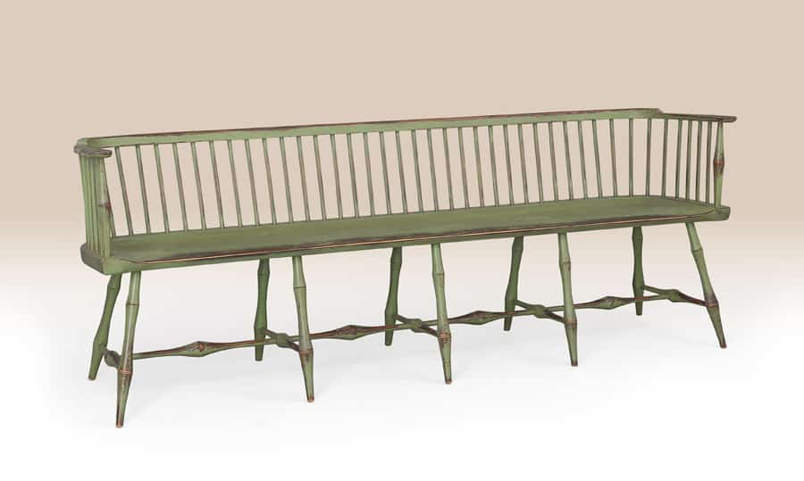 Historical Greenwich Low-Back Bench Image