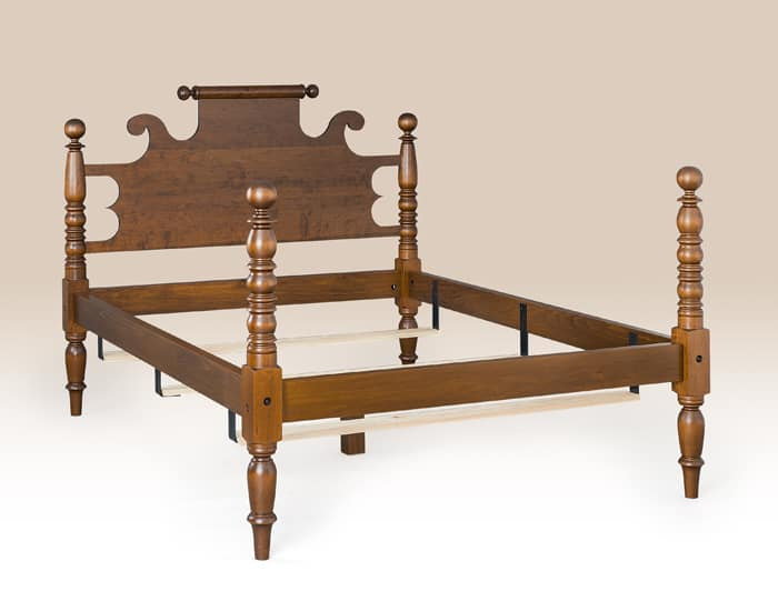 Historical Machusetts Cannonball Bed Image
