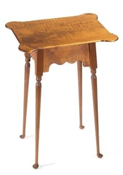 Porringer Table with Queen Anne Legs Image