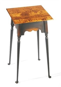 Square Table with Queen Anne Legs Image