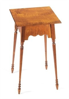 Square Table with Turned Legs Image