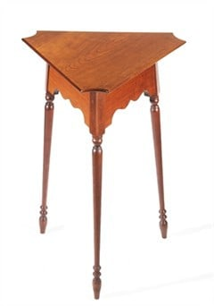 Triangle Table with Turned Legs Image