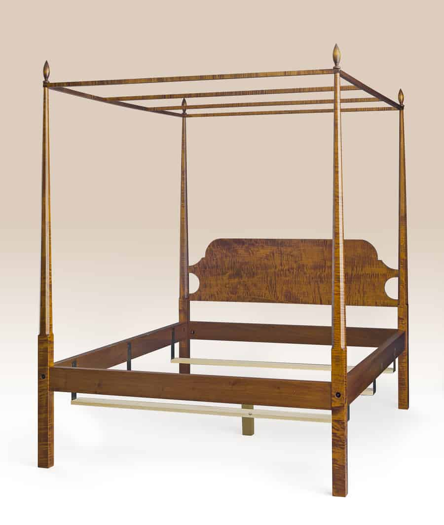 Historical Washington Pencil Post Bed with Canopy Image