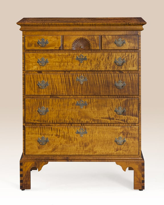 Chippendale Five Drawer Chest Image