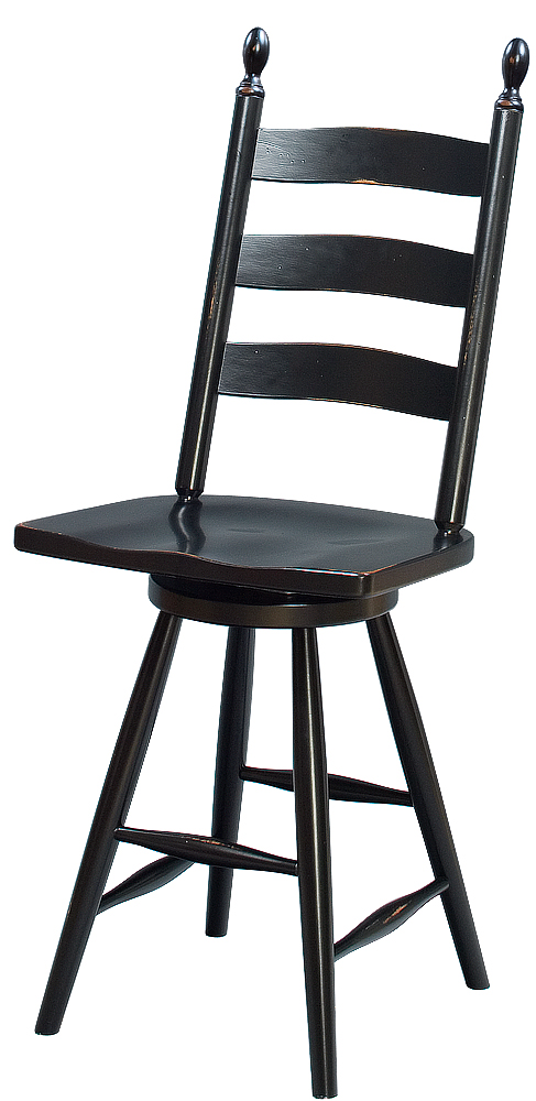 Swivel Pittsfield Ladderback Stool Image
