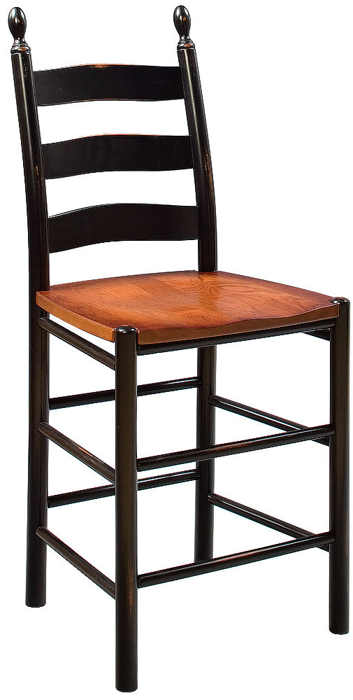 Non Swivel Pittsfield Ladderback Stool Image