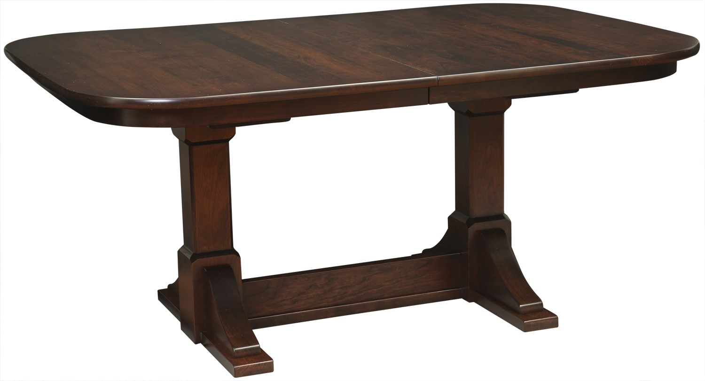 Virginia City Double Pedestal Table Image
