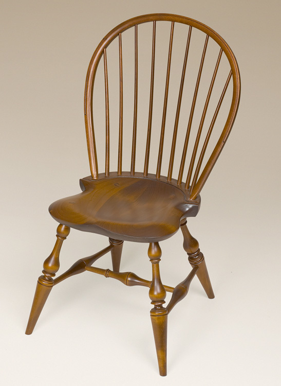 Bow Back Windsor Side Chair Old Maple Finish Image