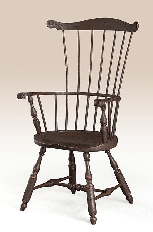 Historical Lancaster Fan Back Windsor Armchair Image