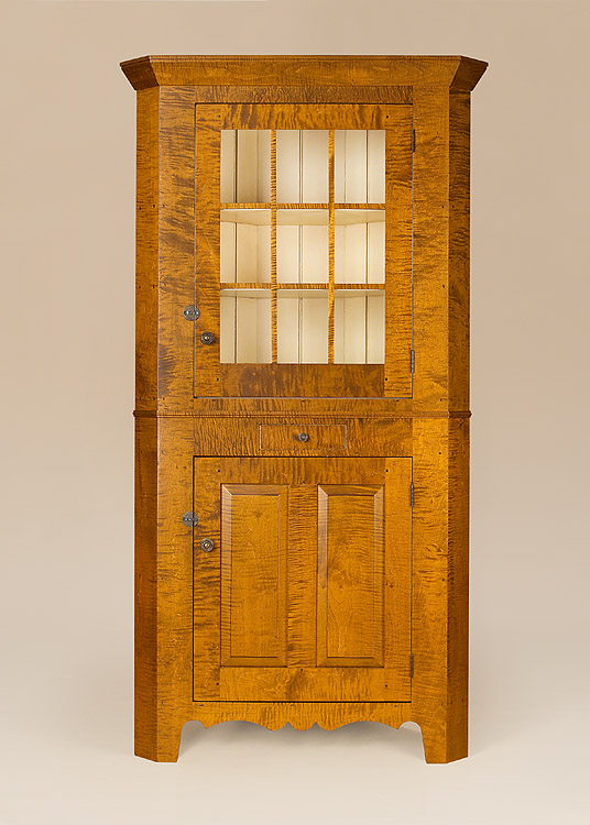 Historical Mercer Corner Cupboard