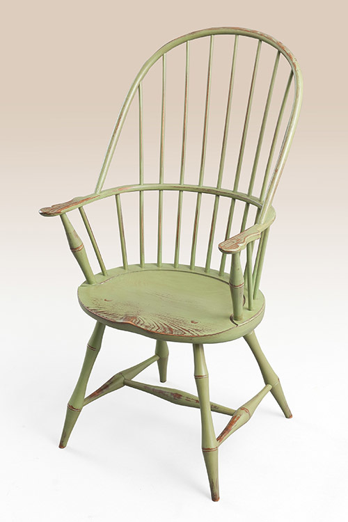 Historical Sack Back Windsor Armchair With Bamboo Turnings Image